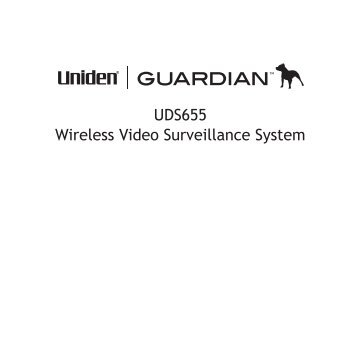 UDS655 Wireless Video Surveillance System - Uniden