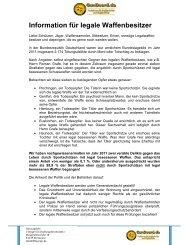 Information für legale Waffenbesitzer - WordPress – www.wordpress ...