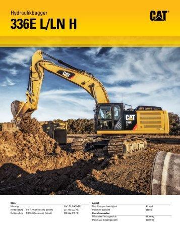 Technische Daten – Hydraulikbagger 336E L/LN H - Caterpillar