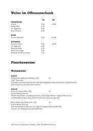 Restaurant Alpenblick - Weinkarte - Welcome Hotels & Restaurants