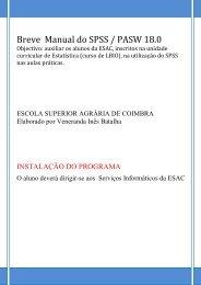 Breve Manual do SPSS / PASW 18.0 - ESAC