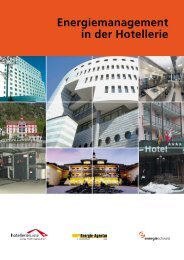 Energiemanagement in der Hotellerie (PDF, 1.5 MB) - Hotelleriesuisse