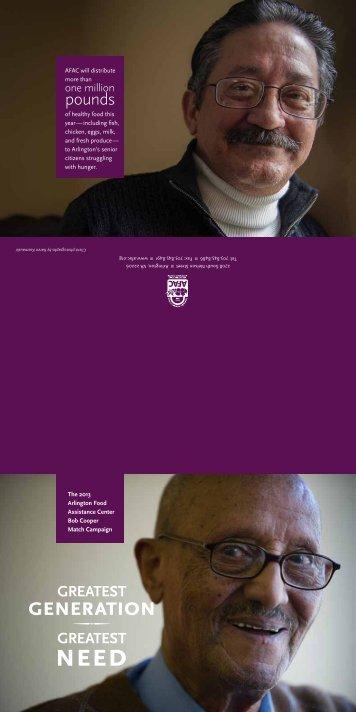 Bob Cooper Match Campaign Brochure - AFAC