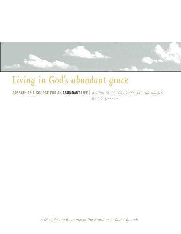 Living in God's abundant grace - Brethren in Christ Church