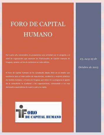 Por cuarto año consecutivo el Foro de Capital Humano se convirtió ...