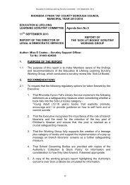 Agenda Item 5 - Sick Lit Books - rctcbc.gov.uk