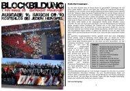 Blockbildung 16 09/10 Frankfurt - Ultraszene Mainz