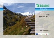 Sommerprogramm 2013 TIROL - Naturschutzbund