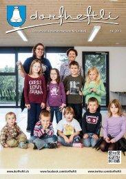 Das offizielle Monatsmagazin für Leutwil 10/ 2013 - dorfheftli
