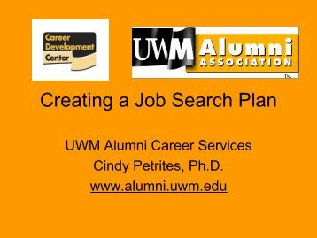 Creating a Job Search Plan