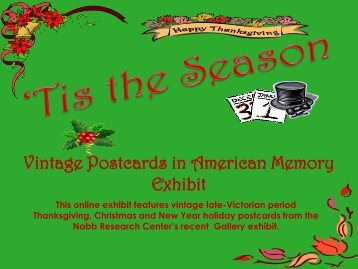 Tis the Season: Vintage Postcards in American Memory - Research ...