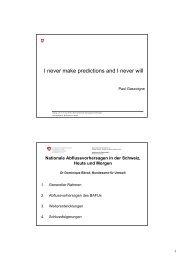 Prévisions nationales des débits en Suisse, aujourd'hui et demain ...