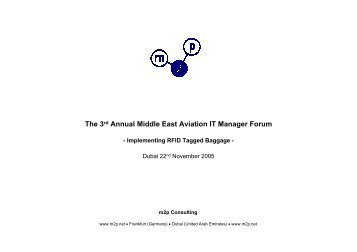 The 3rd Annual Middle East Aviation IT Manager Forum - ITP.net