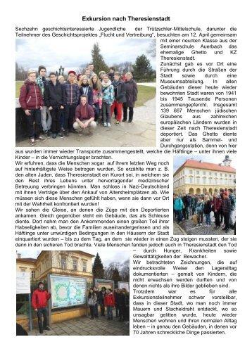 Exkursion nach Theresienstadt
