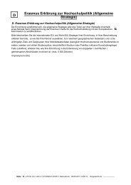D Erasmus Erklärung zur Hochschulpolitik (Allgemeine Strategie)