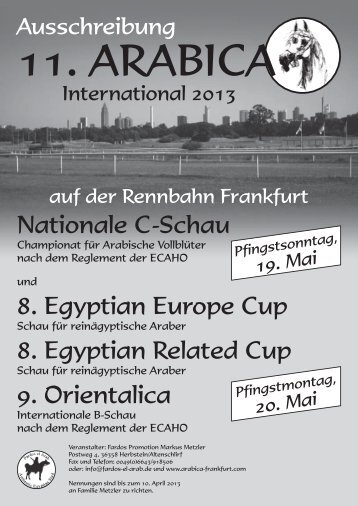 to download the 2013 Entry Form - Arabica Frankfurt
