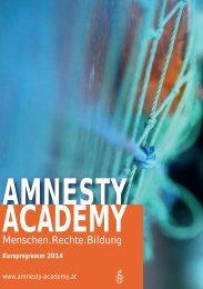 Kursprogramm 2014 - Amnesty International Österreich