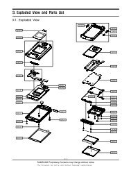 3. Exploded View and Parts List