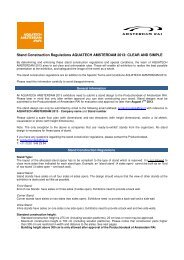 Read the stand regulations (PDF) - Aquatechtrade
