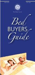 Bed BUYERS Guide - The Sleep Council