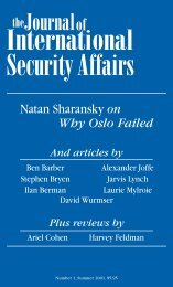 Download the Full Issue - The Journal of International Security Affairs