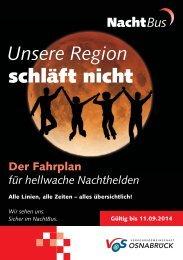 Unsere Region schläft nicht - Verkehrsgemeinschaft Osnabrück
