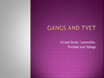 Gangs and TVET - Iveta TT > home