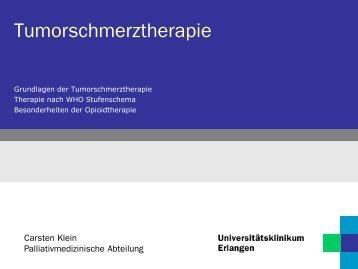 Grundlagen der Tumorschmerztherapie