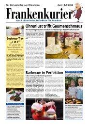 Download Frankenkurier Nr. 4 - Residenz-Gaststätten