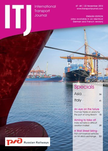 Issue 47-48/2013 - ITJ | Transport Journal