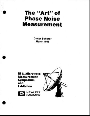 of Phase Noise Measurement - John Miles KE5FX