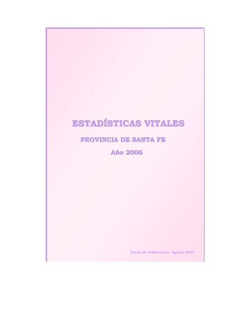 ESTADÍSTICAS VITALES - Gobierno de la Provincia de Santa Fe