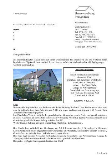 Hausverwaltung Immobilien - Hüttner Immobilien