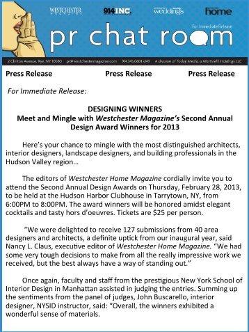 2013 Westchester Home Design Awards
