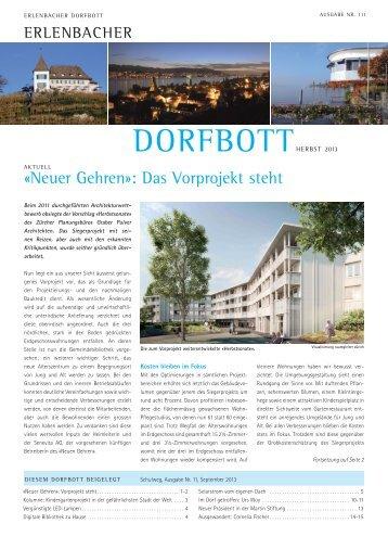 Dorfbott Herbst 2013 (PDF, 5955kB) - Gemeinde Erlenbach