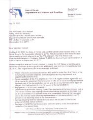 Letter Requesting Extension of IV-E Waiver from Secretary Sheldon ...