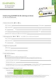 Sondervertrag FixSPAREN - Stadtwerke Bad Tölz