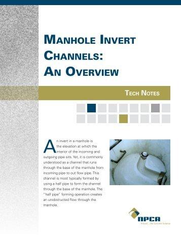 manhole invert channels - National Precast Concrete Association