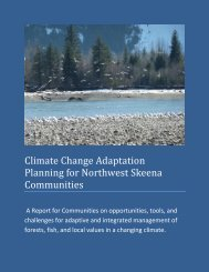 Chapter 1 Climate Change Adaptation Planning for Northwest ...