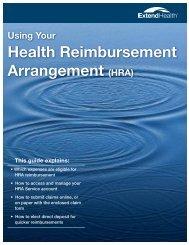 Using Your Health Reimbursement Arrangement (HRA) - Benefits