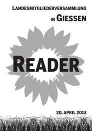 Anträge und Bewerbungen im Reader - Bündnis 90/Die Grünen ...