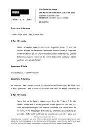 Lebenszeichen vom 22.09.2013 (PDF-Download: 128,6 KB) - WDR 3