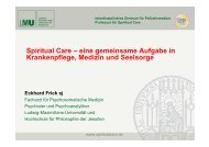 Spiritual Care – eine gemeinsame Aufgabe in Krankenpflege ...