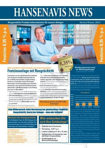 Festzins 8,35 % pa Festzins 8,35 % pa - aktuelles top-special