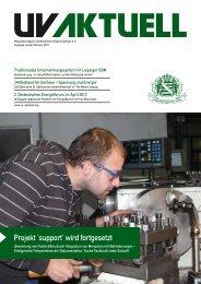 Projekt 'support' wird fortgesetzt - Unternehmerverband Sachsen eV