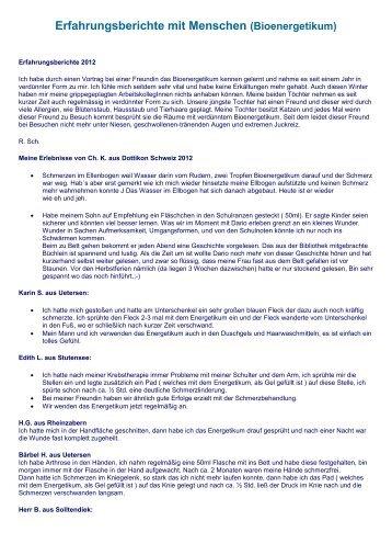 Erfahrungsberichte Bioenergetikum-EL - Sandra + Werner