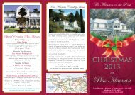 Christmas 2013 brochure - Plas Maenan Country House