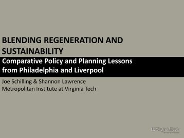 Presentation available as PDF - Metropolitan Institute at Virginia Tech