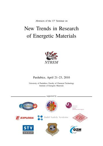 New Trends in Research of Energetic Materials ... - NTREM.com