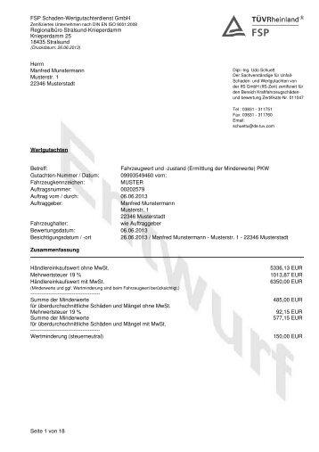 Herrn Manfred Munstermann Musterstr. 1 22346 ... - Fair Play Return